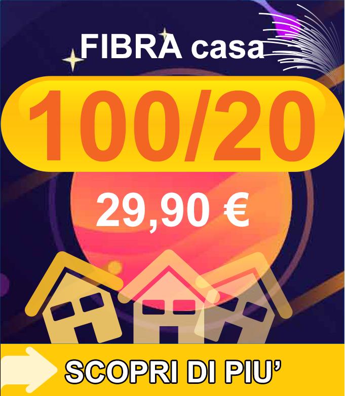 Fibra FTTC Casa 100/20 29,90€