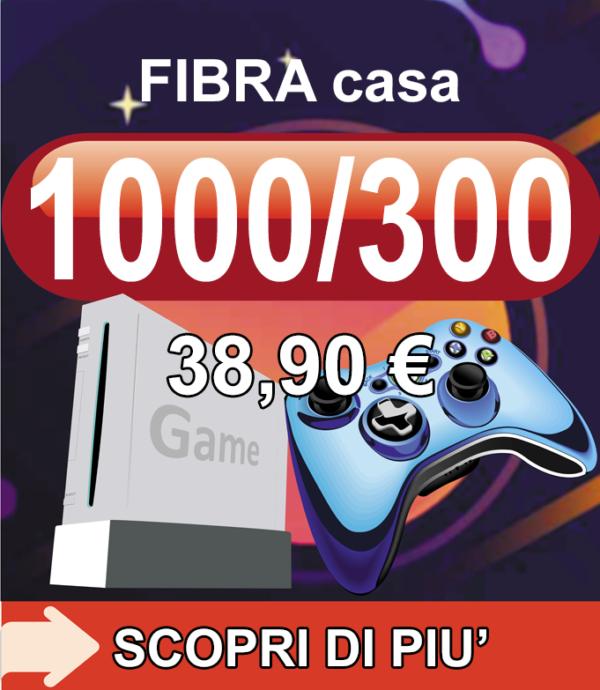 Fibra FTTH Casa GAMING 1000/300 38,90€