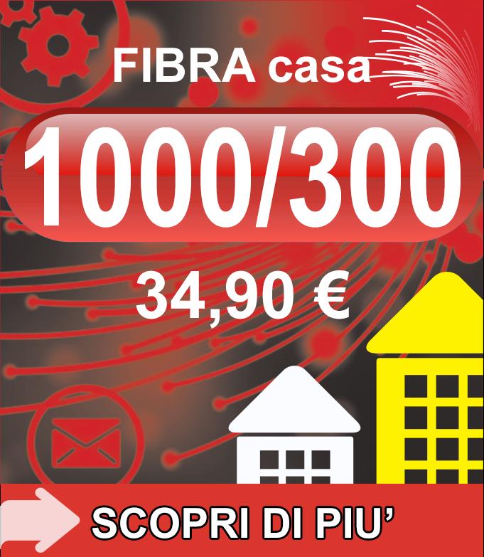 Fibra FTTH Casa 1000/300 34,90€