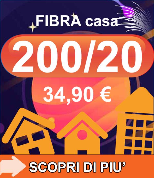 Fibra FTTC Casa 200/20 34,90€